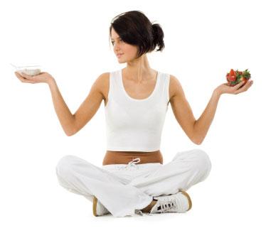 sports girl healthy food